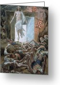 Jesus Painting Greeting Cards - The Resurrection Greeting Card by Tissot