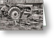 Fauquier County Greeting Cards - The Retirement Home Black and White Greeting Card by JC Findley