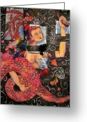 Daydream Mixed Media Greeting Cards - The Return Greeting Card by Suzan  Sommers