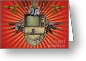 Politics Greeting Cards - The Revolution Will Not Be Televised Greeting Card by Rob Snow