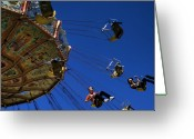 Amusement Ride Greeting Cards - The Ride Greeting Card by David Patterson