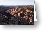 Grand Staircase - Escalante National Monument Greeting Cards - The Ridges And Canyons Of The Grand Greeting Card by Taylor S. Kennedy