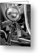 Monochrome Hot Rod Greeting Cards - The Right Light Greeting Card by John Herzog