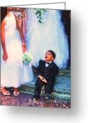 Little Boy Greeting Cards - The Ring Bearer Greeting Card by Jeff Breiman