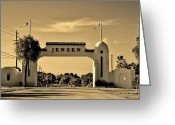 Jensen Beach Greeting Cards - The Rio Arch Greeting Card by Don Youngclaus