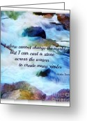 Mother Teresa Greeting Cards - The Ripple Effect Greeting Card by Michelle Frizzell-Thompson