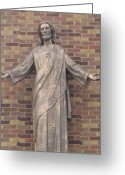 Most Photo Greeting Cards - The Risen One Jesus Greeting Card by Judyann Matthews