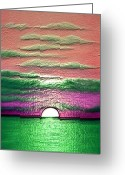 Karen Conine Greeting Cards - The Rising Sun Greeting Card by Karen Conine
