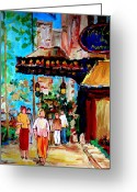 Montreal Street Life Greeting Cards - The Ritz Carlton In Spring Greeting Card by Carole Spandau
