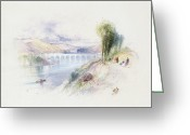 Thomas Moran Greeting Cards - The River Schuykill Greeting Card by Thomas Moran