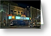 Photographers Fayette Greeting Cards - The Riveria Theater Greeting Card by Corky Willis Atlanta Photography