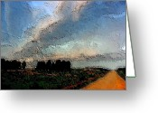 Dismal Greeting Cards - The Road Home Greeting Card by James Bryron Love