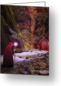 Magic  Digital Art Greeting Cards - The Road Less Traveled Greeting Card by John Edwards