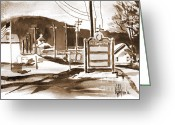 Pilot Knob Greeting Cards - The Road to Farmington Pilot Knob Missouri Greeting Card by Kip DeVore