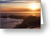 Alcatraz Greeting Cards - The Road to Point Bonita Lighthouse Greeting Card by Laszlo Rekasi