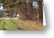 Log Cabin Photographs Greeting Cards - The Road To Redemtion Greeting Card by Robert Margetts