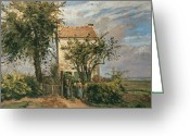 "\""small House\\\"" Greeting Cards - The Road to Rueil Greeting Card by Camille Pissarro"