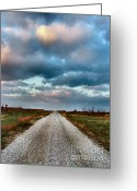 Autumn Scenes Photo Greeting Cards - The Road to Somewhere Greeting Card by Julie Dant