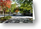 Downtown Kingston Greeting Cards - The Road Well Traveled Greeting Card by Su Ferguson - Don Burkheimer