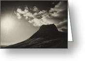 Sun Flare Greeting Cards - The Rock Greeting Card by Andrew Kubica