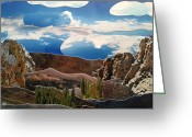 Colorado Rockies Mixed Media Greeting Cards - The Rockies Greeting Card by Kendall Schuller