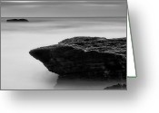 Horizon Over Water Greeting Cards - The Rocks And The Ocean Greeting Card by Ivan Makarov, San Jose, CA