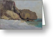 Redon Greeting Cards - The Rocks at Vallieres Greeting Card by Odilon Redon