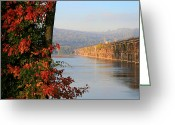 Harrisburg Greeting Cards - The Rockville in Autumn Greeting Card by Lori Deiter