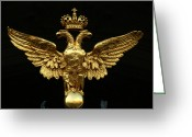 Art In Squares Greeting Cards - The Romanov Double Eagle Crest Greeting Card by Richard Nowitz