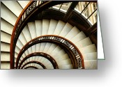 Staircase Greeting Cards - The Rookery Spiral Staircase Greeting Card by Ely Arsha