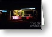 Photographers Ellipse Greeting Cards - The Roosevelt Drive Inn Greeting Card by Corky Willis Atlanta Photography