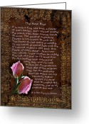 Loss Digital Art Greeting Cards - The Rose Bud Greeting Card by Carolyn Marshall