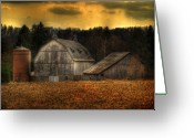 Silo Greeting Cards - The Rose Farm Greeting Card by Thomas Young