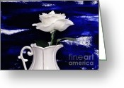 Pitcher Greeting Cards - The Rose Greeting Card by Marsha Heiken