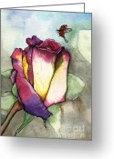 Nora Blansett Painting Greeting Cards - The Rose Greeting Card by Nora Blansett