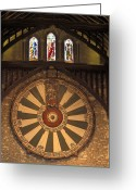 Great Hall Greeting Cards - The Roundtable, Built During King Greeting Card by Richard Nowitz