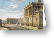 Posh Painting Greeting Cards - The Royal Crescent Greeting Card by David Cox