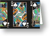 Playing Cards Greeting Cards - The Royal Spade Family Greeting Card by Wingsdomain Art and Photography