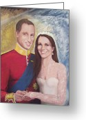 England Diana Greeting Cards - The Royal Wedding Greeting Card by Nicole Shaw