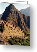Green Day Greeting Cards - The Ruins Of Machu Picchu, Peru, Latin America Greeting Card by Brian Caissie