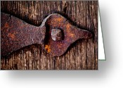 Hinge Greeting Cards - The Rusty Hinge Greeting Card by Lisa Russo