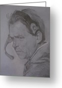Fans Drawings Greeting Cards - The Saban Look Greeting Card by Sheila Gunter
