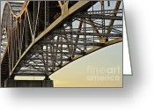 Rivet Greeting Cards - The Sagamore Bridge Greeting Card by Luke Moore