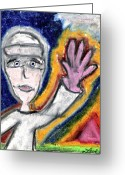 States Pastels Greeting Cards - The Sailor  Greeting Card by Levi Glassrock