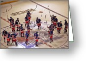 Rink Greeting Cards - The Salute Greeting Card by Karol  Livote
