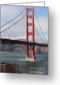 Ggbridge Greeting Cards - The San Francisco Golden Gate Bridge - 5D18911 Greeting Card by Wingsdomain Art and Photography