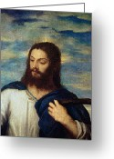 Resurrected Greeting Cards - The Savior Greeting Card by Titian
