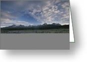 Wood Fences Greeting Cards - The Sawtooth Mountain Range Greeting Card by Michael Melford