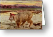 Sacrifice Greeting Cards - The Scapegoat Greeting Card by William Holman Hunt