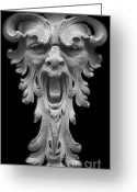 Stucco Walls Greeting Cards - The Scream Greeting Card by Christine Till